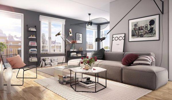 Это наиболее популярный и нейтральный вариант для оформления комнаты. Простой, но в то же время практичный тон, который впишется в любую атмосферу.