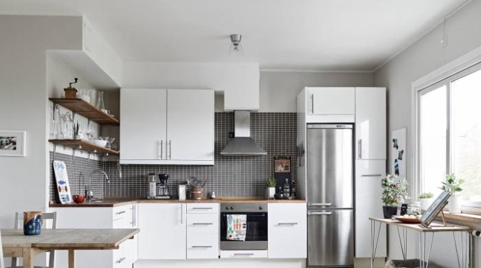 Расстояние кухонных приборов.