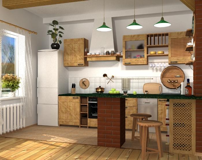 Кухня кантри.