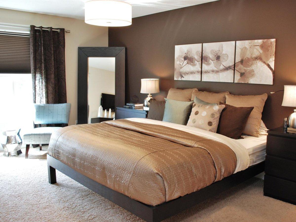 картинки обои в спальню под темную коричневую спальню синие брови