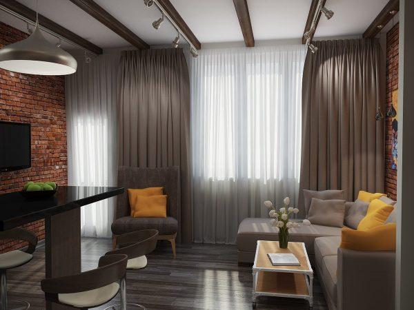 Коричневые шторы способны обновить помещение, добавить экзотичности и сдержанности.