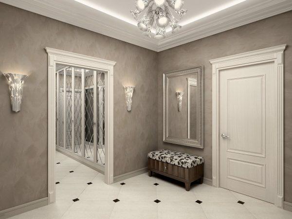 Классический коридор в светлых тонах