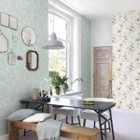 Модные обои для кухни: дизайн, новинки и тренды, фото в интерьере