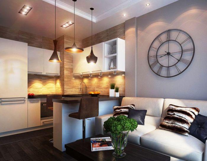 Стиль кухни-гостиной.