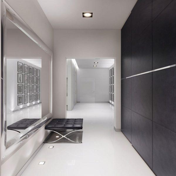 Простой и лаконичный дизайн коридора