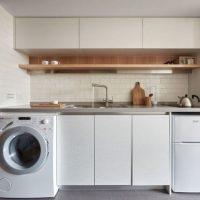 Угловая кухня в хрущевке 50 фото дизайн маленькой кухни со стиральной машиной Как выбрать готовый малогабаритный угловой кухонный гарнитур в хрущевку