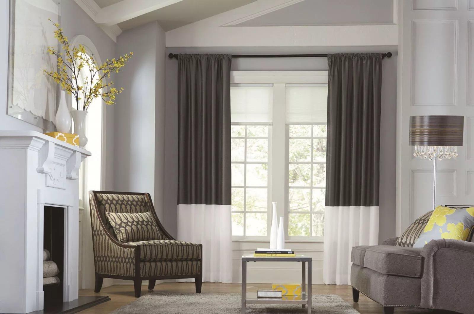 фото-видео идеи оформления окон шторами в гостиной фото ералашс