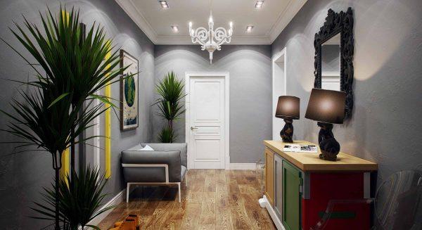 В 2019 году в тренде серый. Если вам кажется эта идея слишком тусклой, разнообразьте дизайн красочными яркими ковриками, цветами, накидками на мебель – атмосфера станет уютнее, а настроение – позитивным.