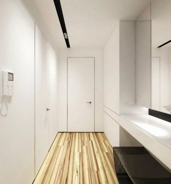 Современный дизайн популяризирует стиль минимализм прихожей в доме или квартире в сезоне 2019.