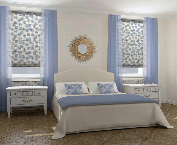 При подборе модных штор в спальню следует учитывать ряд важных нюансов. Фактура материала должна быть идентична или сопоставима с остальными материалами в комнате.