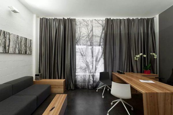 Серые шторы — элегантность, респектабельность, изысканность и роскошь вашего дома.