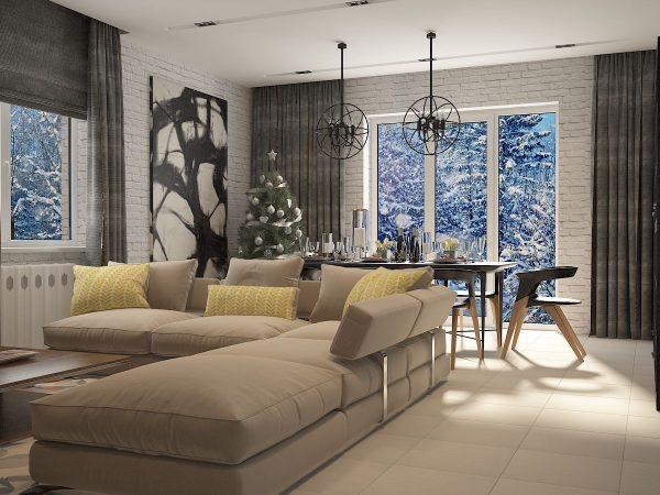 Гостиная — отличный вариант для того, чтоб проявить свои дизайнерские способности сполна.
