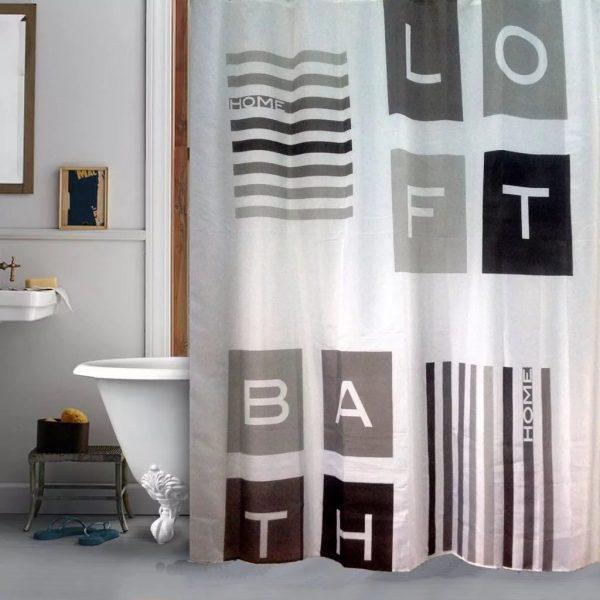 Шторы для ванной в стиле Лофт