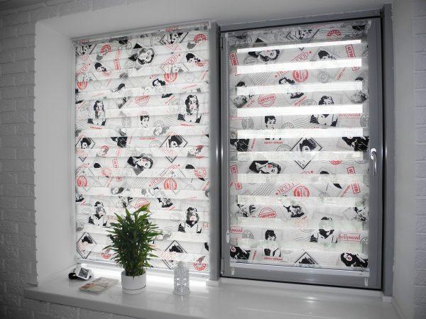 К достаточно интересным идеям можно отнести ткань с несколькими изображениями кинозвезд, к примеру, Мэрилин Монро.