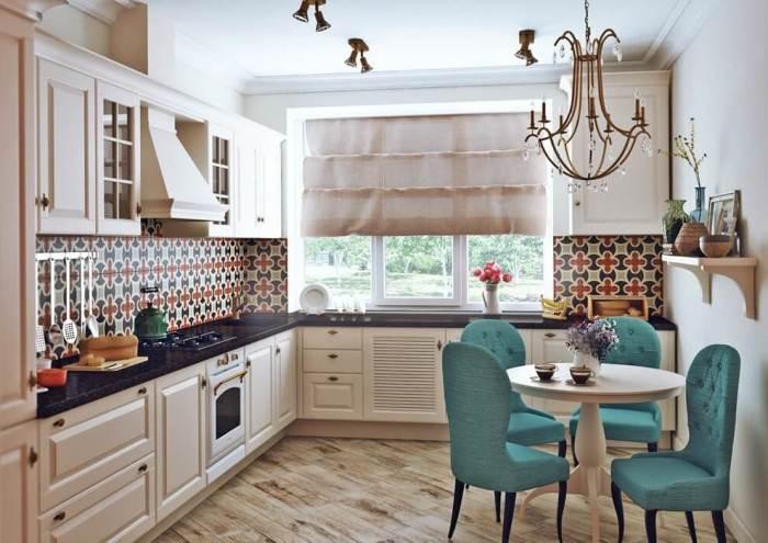 Мебель в европейской кухне.