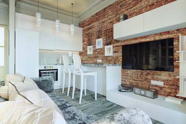 Квартира в стиле Лофт должна быть хорошо освещенной