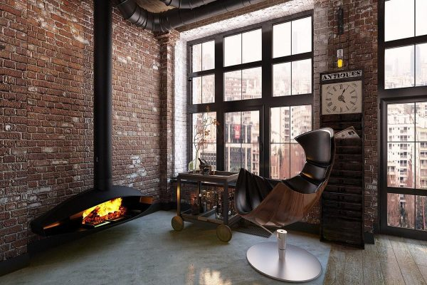 Квартира в стиле Лофт в коричневых оттенках