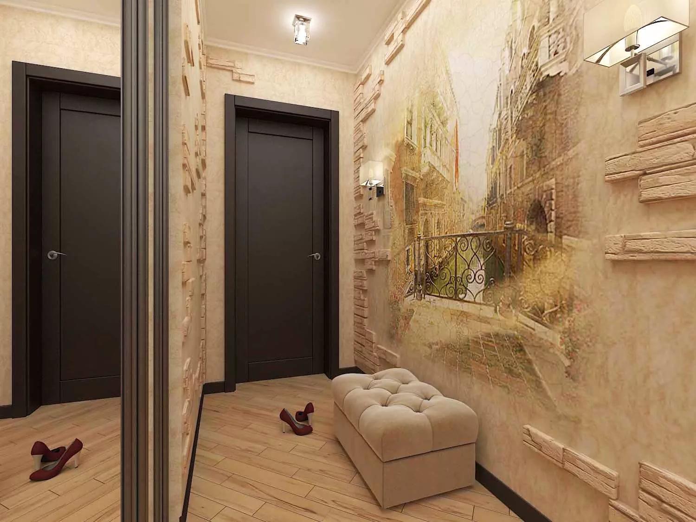 бликует отражает ремонт прихожей в квартире фото с обоями собраны лучшие