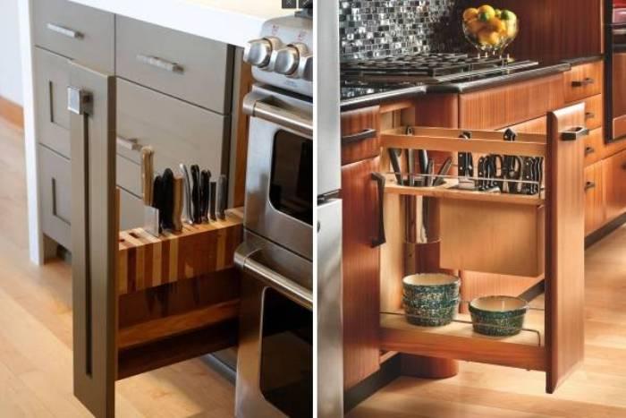 Выдвыжные системы на кухне.
