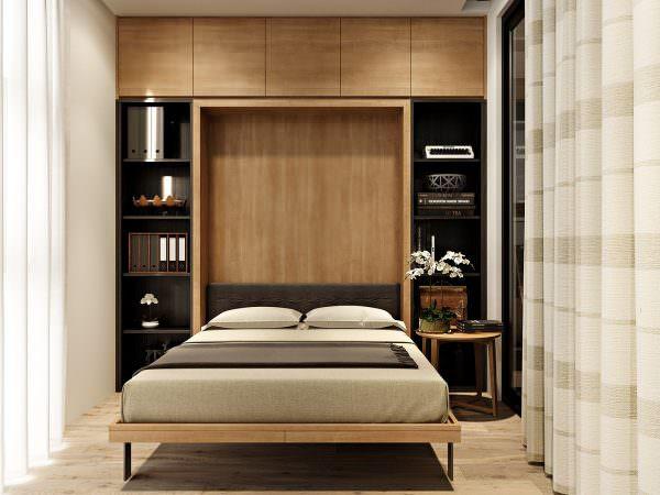 Эскиз дизайна маленькой спальни можно создать с учетом мельчайших деталей