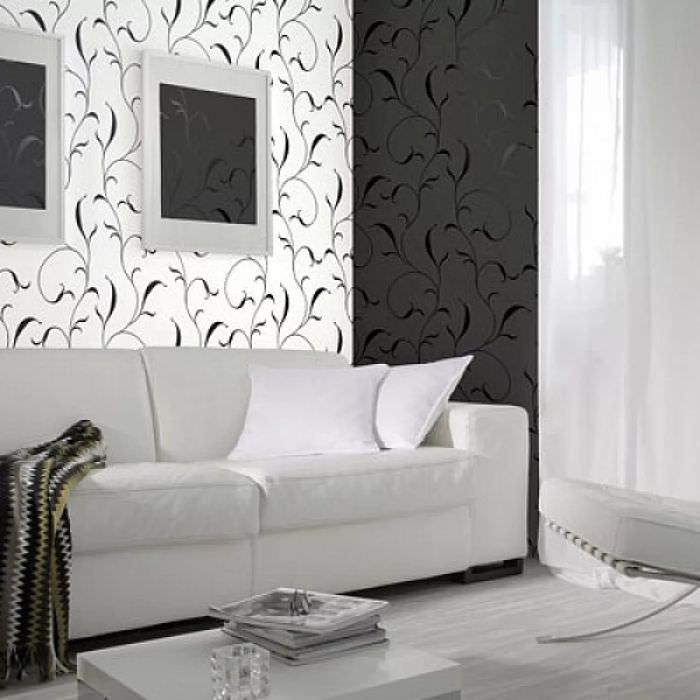 обои черно белые для стен фото может