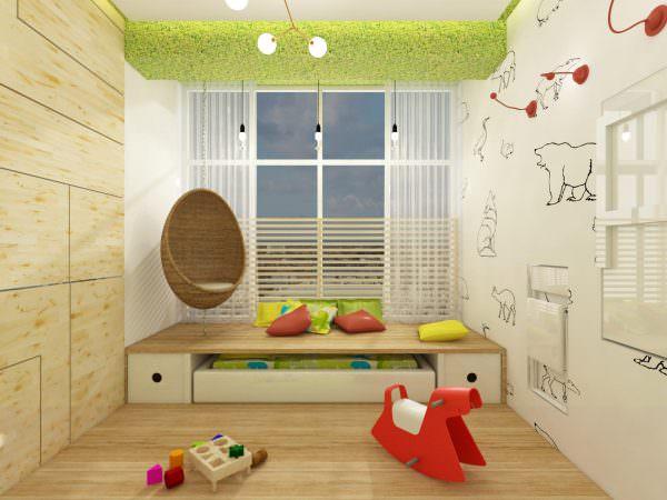 Более продвинутый вариант – это постройка подиума. Спальня может располагаться как на подиуме, так и внизу.