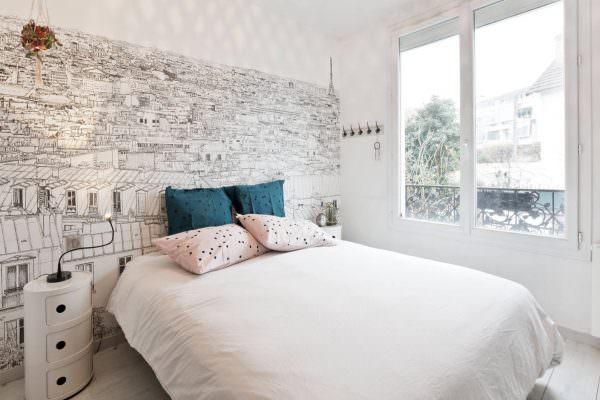 Белоснежная комната - это всегда спокойствие, расслабление и покой. Проблем со сном в такой комнате не будет.