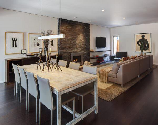 Дизайн гостиной в современном стиле 2020 во многом зависит от размеров помещения
