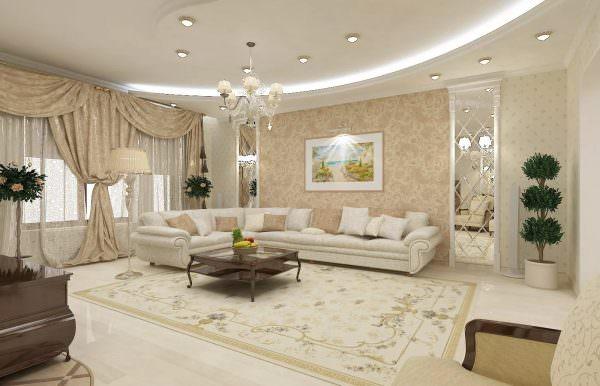 Гостиная в классическом стиле никогда не утратит своей актуальности, и в 2020 году классика является одним из самых используемых направлений.