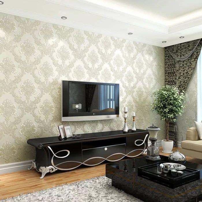 дизайн зала в квартире фото с обоями планы перевыполняла