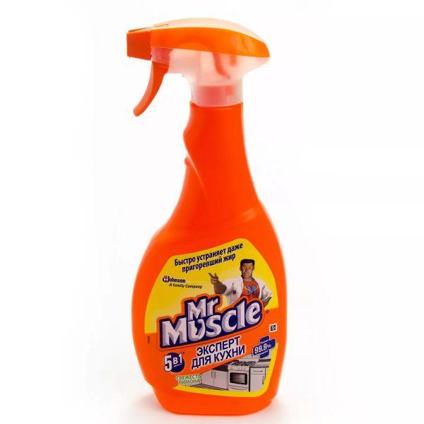 """Спрей """"Мистер Мускул"""" не столько агрессивен, но и действует не так быстро - после нанесения нужно подождать примерно полчаса."""
