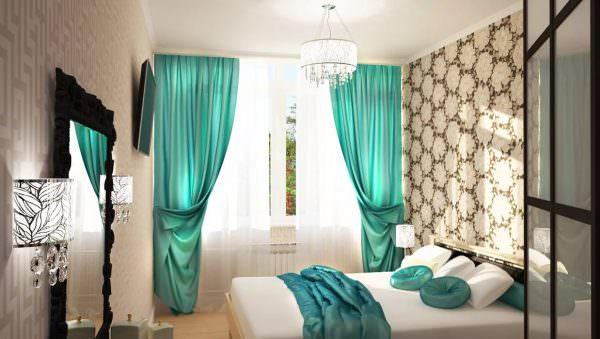 Мятные оттенки от бледных до насыщенных. Решение для комнат, выполненных в холодной цветовой гамме.