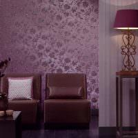 Дизайн модных обоев для гостиной на год.