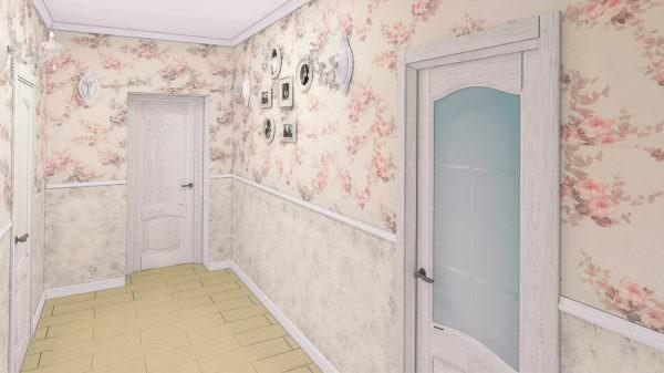 Светлые оттенки, обилие текстиля и цветочных орнаментов при оформлении стен - это характеризует стиль Прованс