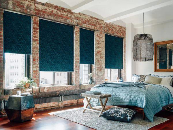 Римские шторы в стиле Лофт