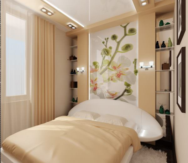 Для маленькой спальни лучше выбрать светлые тона