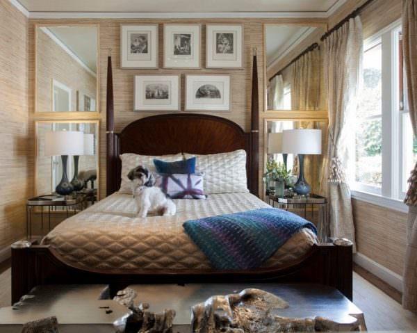 Спальня может выглядеть стильно, даже если кровать занимает большую часть пространства