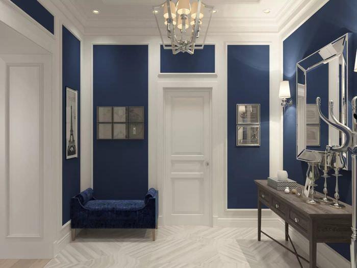 коридор в синем цвете фото проблемы