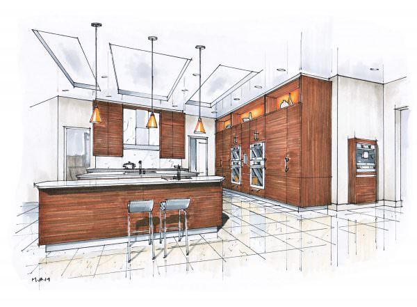 Нарисуйте эскиз, в котором отразите все оттенки мебели, стен и остальных элементов. С помощью этого метода вы наглядно изобразите будущий интерьер.