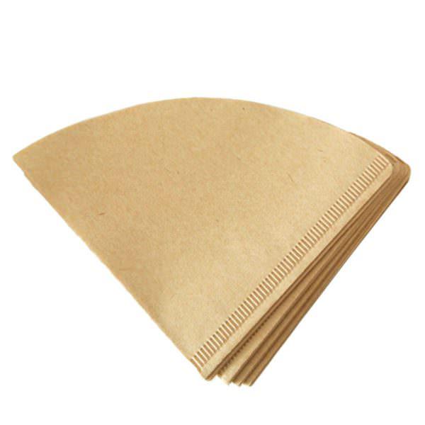 Бумажный необработанный, обычно коричневого, либо светло-коричневого цвета. Лучший вариант фильтрации, исключающий появление посторонних вкусов и запахов в напитке.