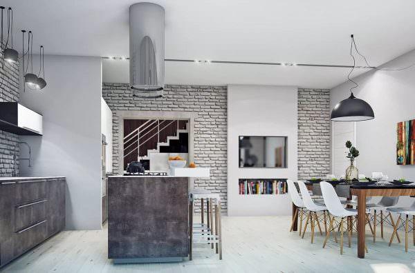 Если вы поклонник минимализма, стены лучше отделать белой плиткой.