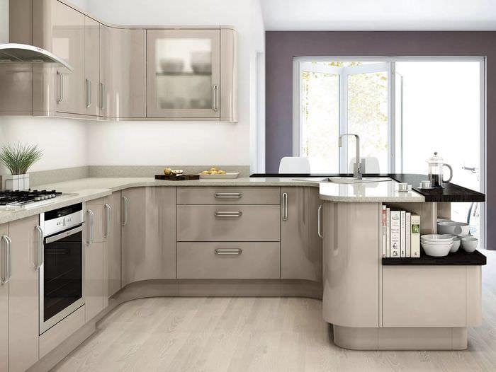 кухня светлого цвета фото фотография, выложенная