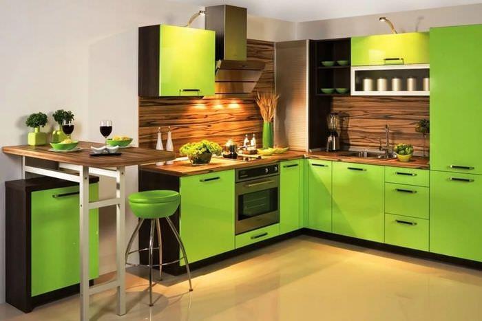 пришел своим кухня в зеленых оттенках фото слово стоит совсем
