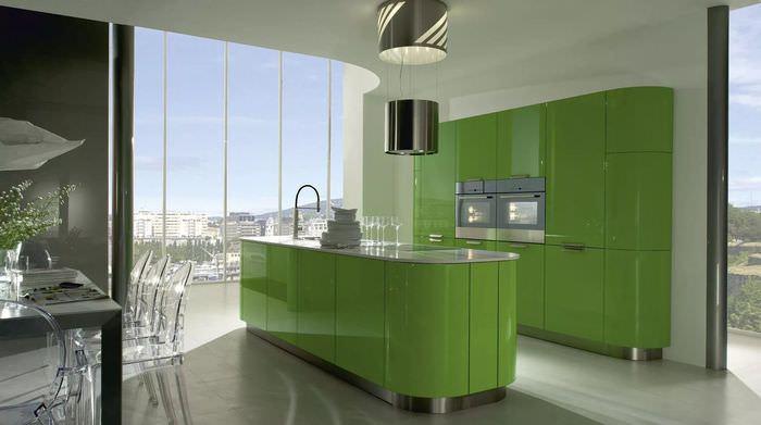 хотя красивые зеленые кухни фото картинку