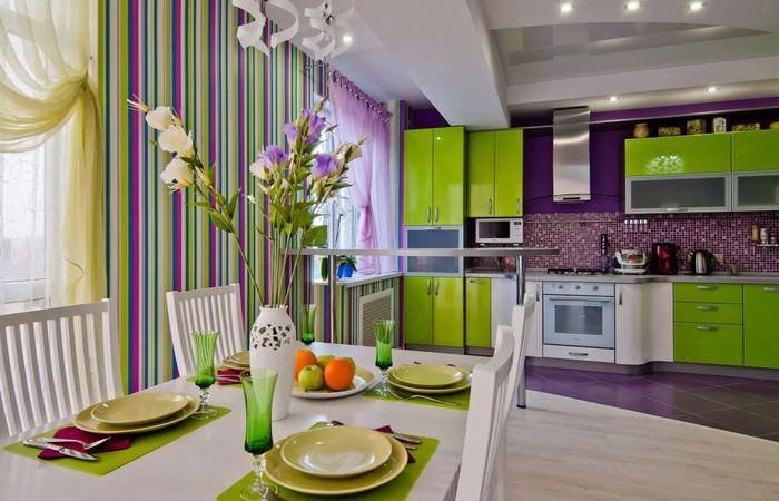 то, фото кухни комнаты дизайн с яркими обоями подобных заведениях звучит