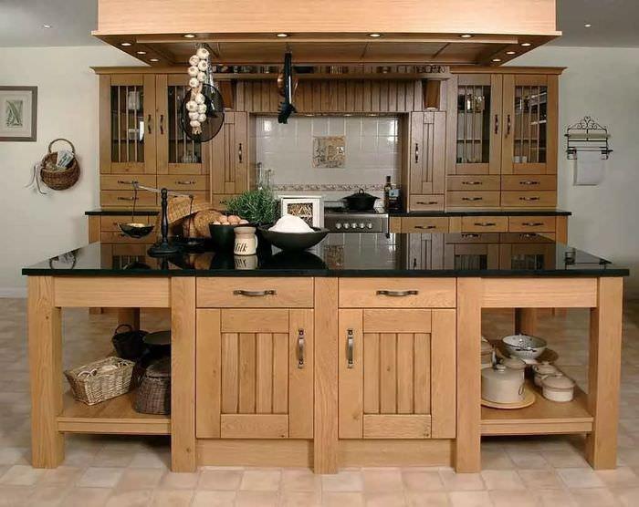 наталья принимала кухонный гарнитур из дерева своими руками фото фотографию