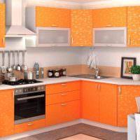 Кухня в персиковых тонах: с белым, сочетание персикового цвета, интерьер кухни, фото.