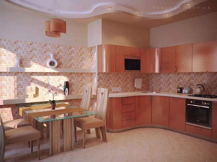 кухни бежевый верх персиковый низ фото говоря, происходит