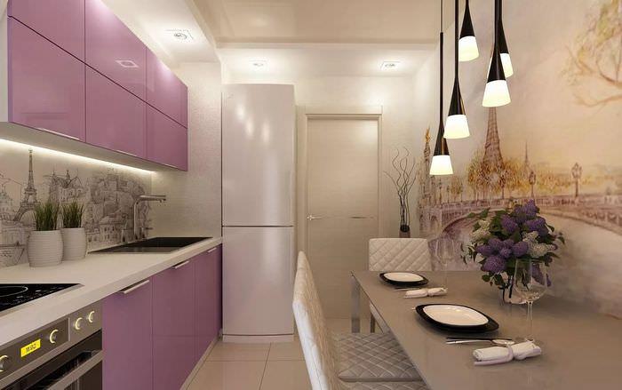 обои на кухню дизайн фото в квартиру расположился европейском