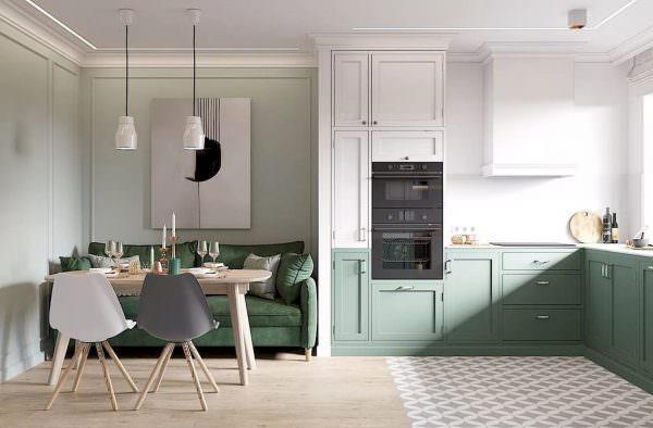 Не каждая пастель подойдет для дизайна кухни в скандинавском стиле, так как здесь не часто встретишь лиловые или розовые интерьеры